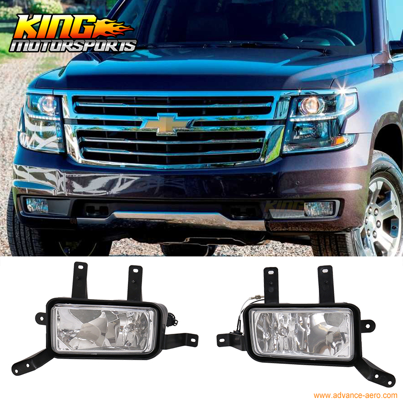 For 2015-2017 Chevy Tahoe Suburban Front Fog Light Fog Lamp Pair LH RH H3 12V 20W suburban 94 99 blazer 94 tahoe 95 99 signal marker reflector light upper pair