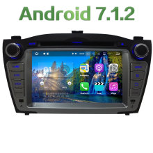 "7"" 2GB RAM Quad Core Android 7.1.2 4G WiFi SWC BT Multi Car DVD Player Radio Stereo GPS Navi For Hyundai Tucson IX35 2009-2015"