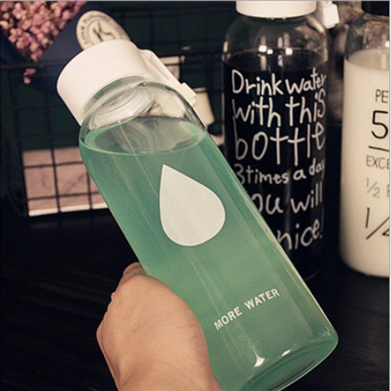 500 Ml Korean Glass Bottled Water Brands Travel Bottles Cute Sports