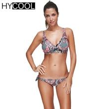 HYCOOL Bikini Set Swimsuit 2017 for Women Retro Print Knoted Bathing Suit Female Swim Suit Women Swimwear Biquini Swimming Suit