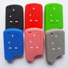 Silicone inteligente chave guarda caso envoltório para carro acessório remoto 4 botão para honda stepwgn spada insight passo wagon rk C-RZ elysion