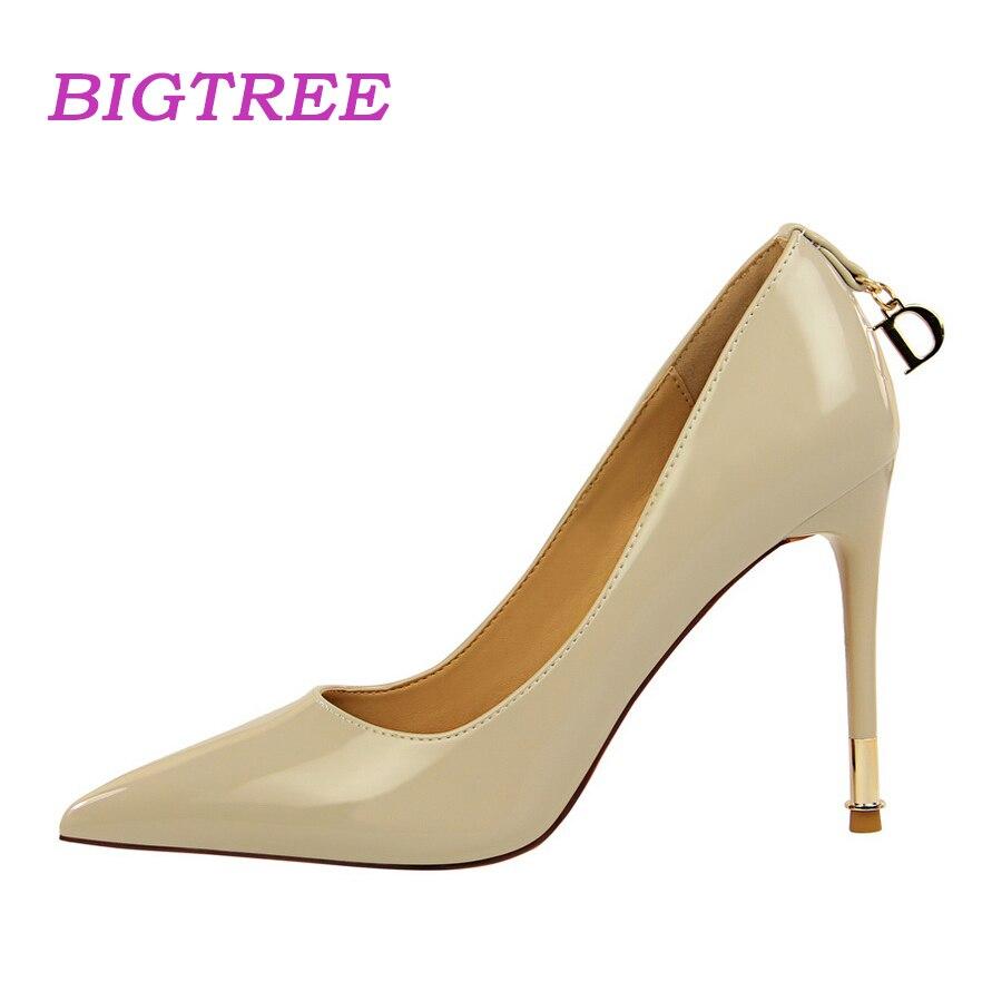 Buy BIGTREE Brand 2018 New Elegant Women Pumps Office Lady Sexy Fetish High Heels Pump Scarpin Sapatos Femininos Bride Wedding Shoes