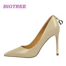BIGTREE Brand 2018 New Elegant Women Pumps Office Lady Sexy Fetish High Heels Pump Scarpin Sapatos Femininos Bride Wedding Shoes