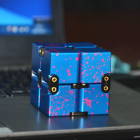 Luxury Infinity Cube 4x4x4cm Fidget Cube Spinner High Quality Anti Stress Metal Adults Kids Gift EDC for ADHD Funny Finger Toys