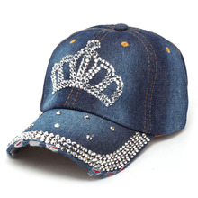 Crown Rhinestone Cap