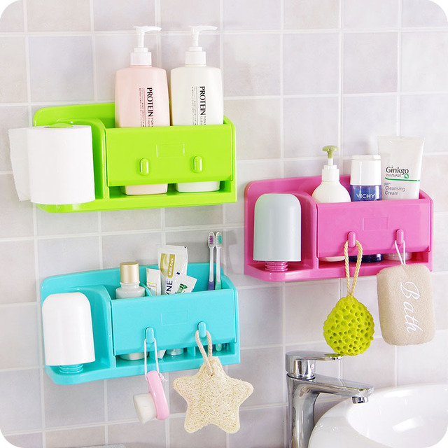 Hot Sales Wall Self Adhesive Kitchen Storage Box Organizer Plastic Bag  Holder For Bathroom And