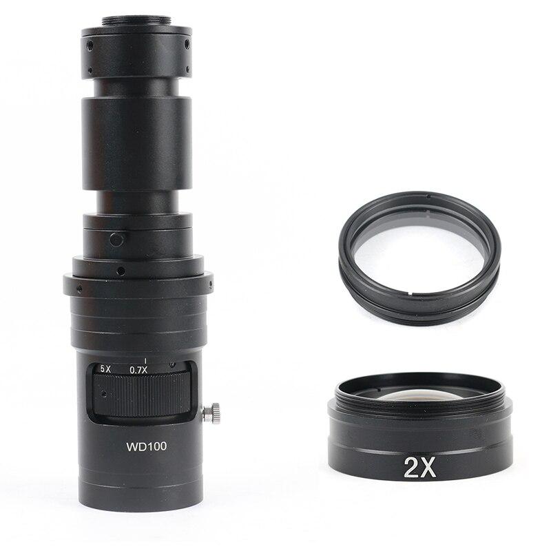 400x 1000x fhd ampliação ajustável continuamente variável c montagem zoom lente óptica para hdmi vga usb microscópio de vídeo