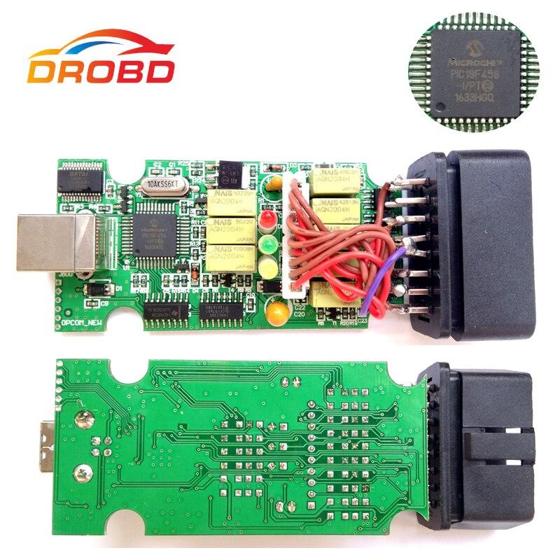 V1.70 Version OP COM Outil De Diagnostic OBD2 Scanner avec Réel PIC18F458 Puce OP-COM/OPCOM Pour OPEL VAUXHALL Soutien Flash firmware