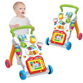 Детские сидячие на подставке Обучающие ходунки тележка многофункциональная музыкальная регулировка скорости ходьба обучающая игрушка дл...