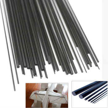 16pcs/lot Carbon Fiber Rods for RC Plane DIY tool wing tube Quadcopter arm 1mm 1.5mm 2mm 3mm 4MM 5MM 7MM (0.5 meter) Wholesale 1