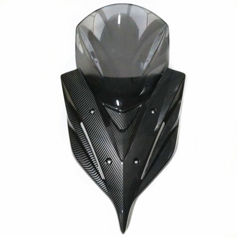 Modified Motorcycle New PCX 2018 windscreen windshield wind screen wind deflectors with led lamp for honda pcx 125 150 2018