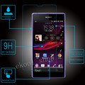Free Shipping 9H Premium Tempered Glass Screen Protector FOR SONY XPERIA Z1 L39h C6902 C6903 C6906 + Cleaning Kit