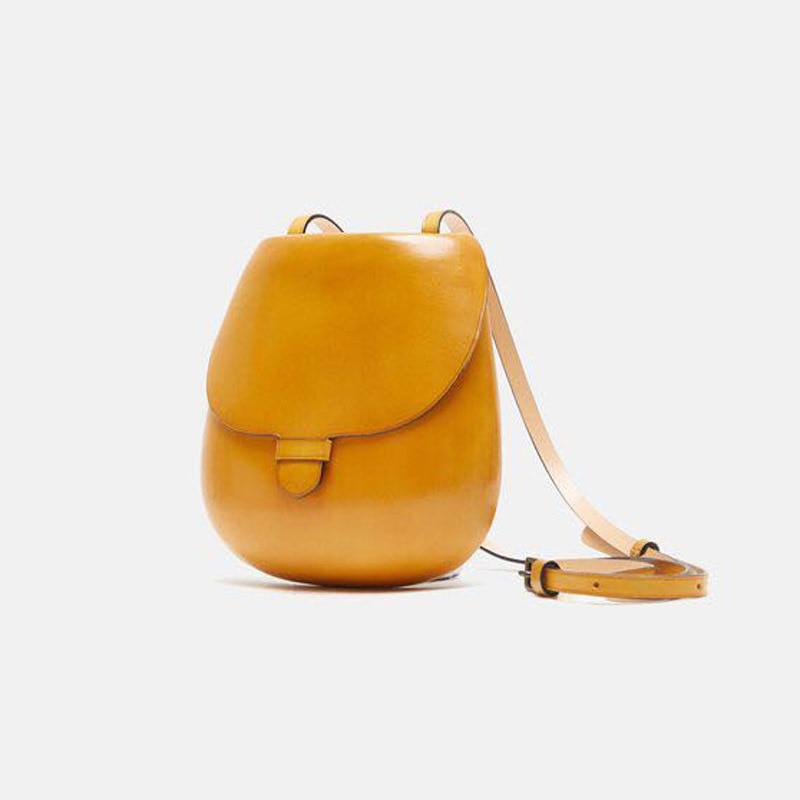 New candy leather saddle bag professional designer design mini small single shoulder slant span women
