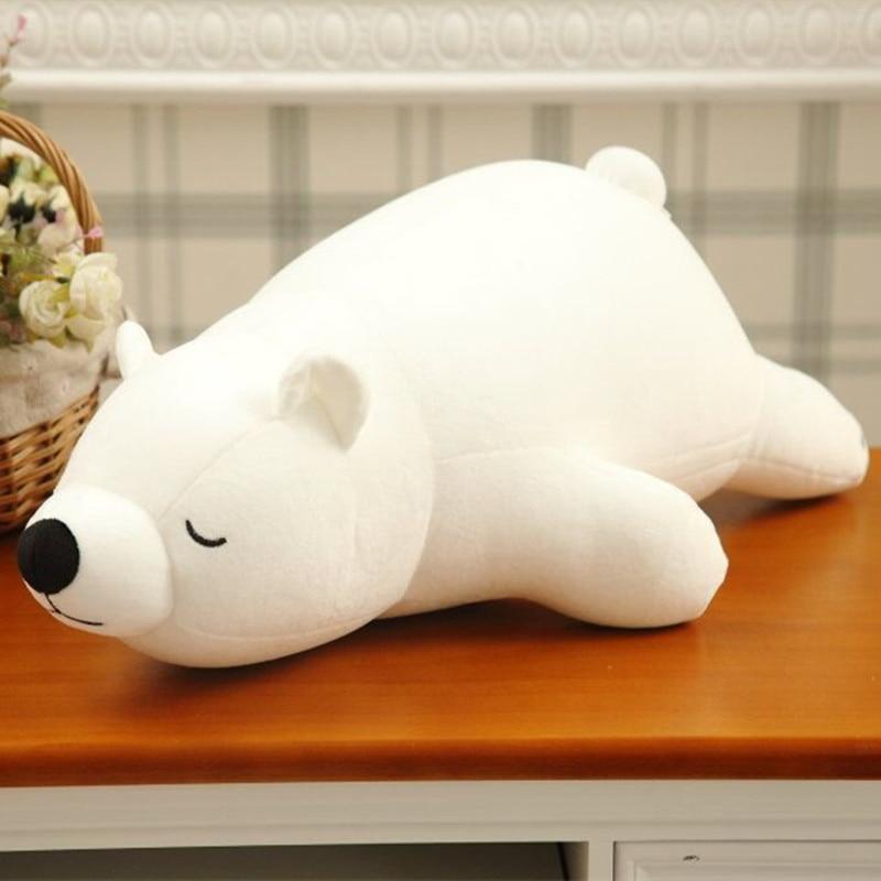 ᐊ45 cm Oso Polar suave peluche nanopartícula peluche muñeca del oso ...