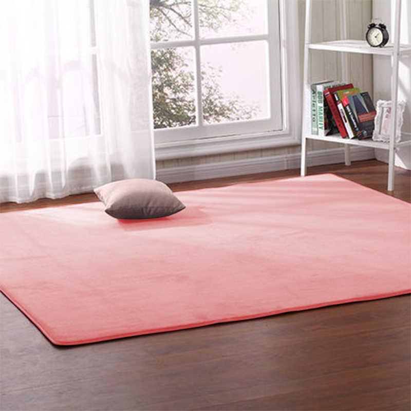 Tebal Karang Bulu Karpet Ruang Tamu Meja Kopi Sofa Selimut Kamar Anak-anak Keset Kamar Tidur Samping Tempat Tidur Jendela Persegi Panjang Karpet