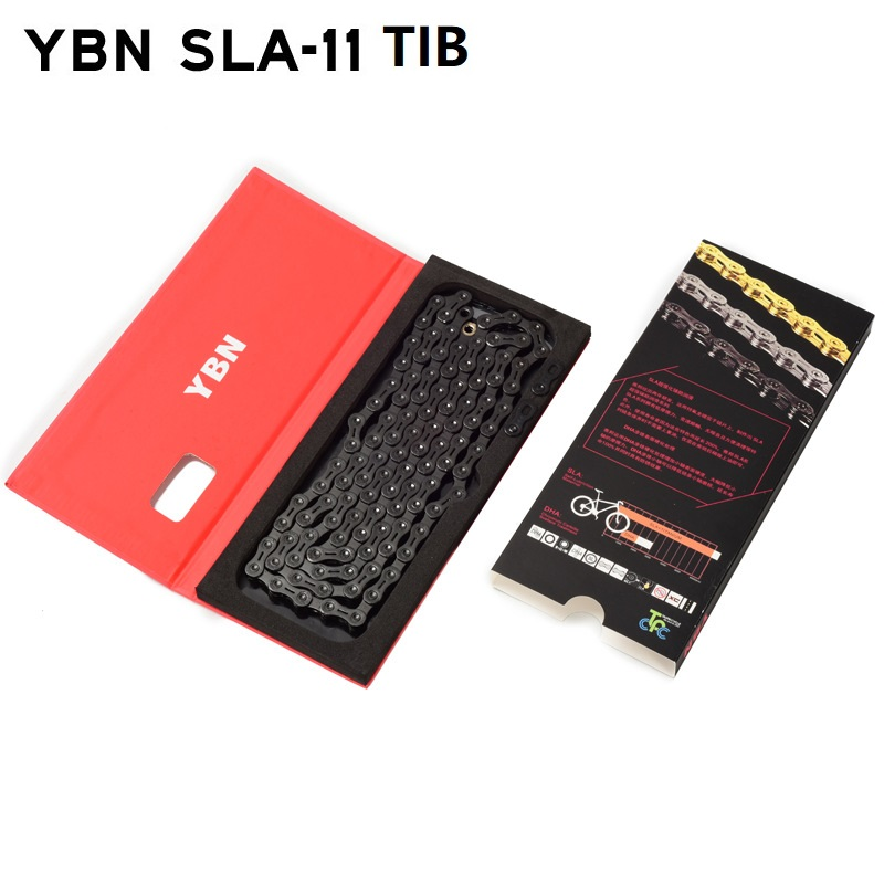 YBN 11S MTB Road Bike Chain 11 Speed Black Diamond Hollow 22s 33S Chains for Shimano