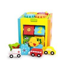 Digital intelligence box car shape matching children's early education toys Baby  disassembly toy building blocks children geometry intelligence matching toy