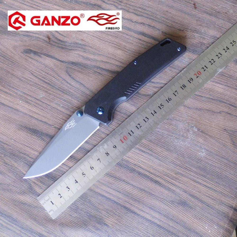 58-60HRC Ganzo FB7603 440C G10 or Carbon Fiber Handle Folding knife Survival Camping tool Pocket Knife tactical edc outdoor tool ganzo firebird fb7603 or