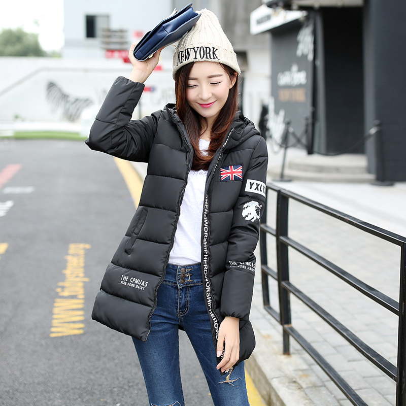 2016 Winter Down Simple Fashion Jackets women's warm Winter Coat Cotton Padded Jacket Hooded Parka Women Coats A3902 winter parka coat for women thick down cotton padded jacket women s elegant hooded jackets coats womens quilted coat warm xh832