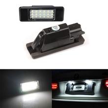 2Pcs Car LED number License Plate Light 12V SMD LED lamp For Peugeot 106 407 307 308 207 208 For Citroen C2 C3 C4 C5
