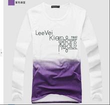 Freies verschiffen neue sommer-mode-männer baumwolle t-shirt plus größe M-4xl männliche stück-beiläufige o neck t-shirts farbverlauf