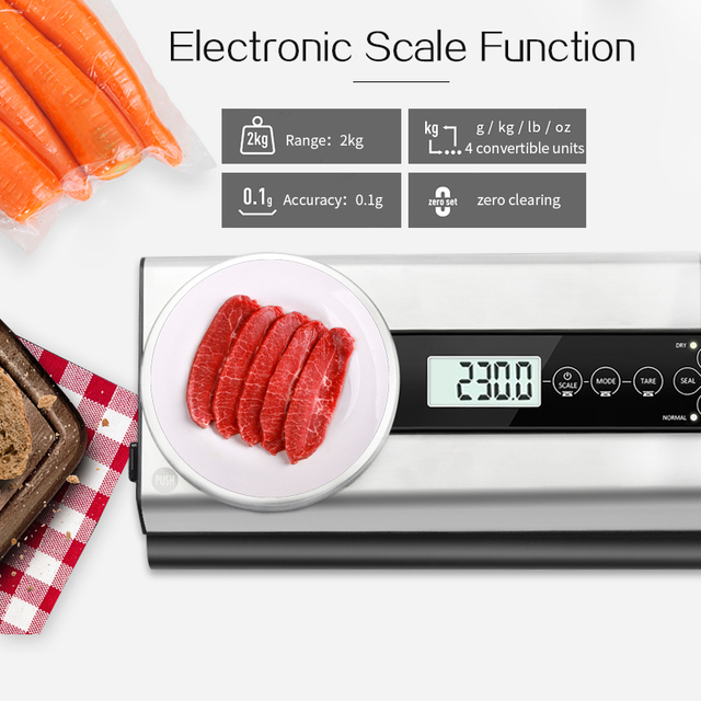 TINTON LIFE Vacuum Food Sealer With Electronic Scale Vacuum Sealer Packaging Machinepacks For Vacuum Packing Machine