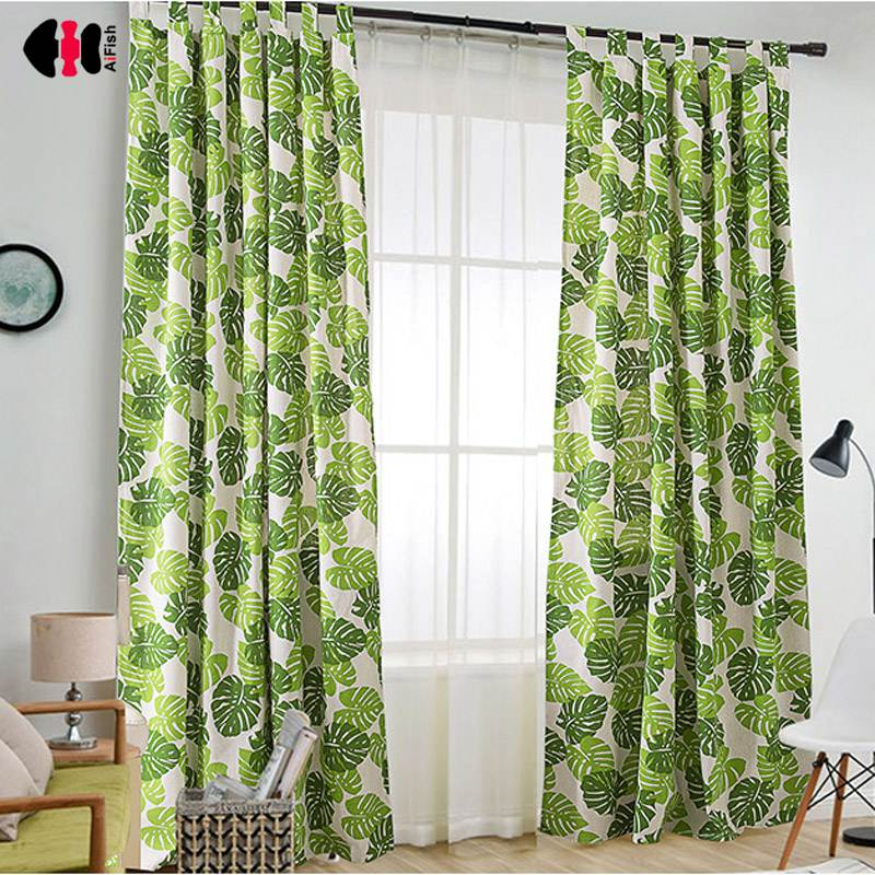 Dependable Green Leaves Print Short Curtains For Bedroom Tab Top Balcony Drape Kids Shade Roman Small Blinds Dl040c Home Textile Home & Garden