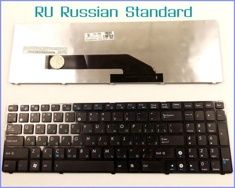 Russian RU Version Keyboard For ASUS K50 K50I K50C K50AB K50AD K50AF K50IN K50IJ P50 P50IJ Laptop