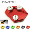 CNC Aluminum Side Stand Enlarge Kickstand Extension Plate Pad for Honda GROM MSX125 MSX 125 2014-2015 Motorcycle Red Black Gold