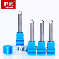 HUHAO 1pc 6mm CNC Router End Mill Diamond PCD Tools Stone Hard Granite Cutting Engraving Bits