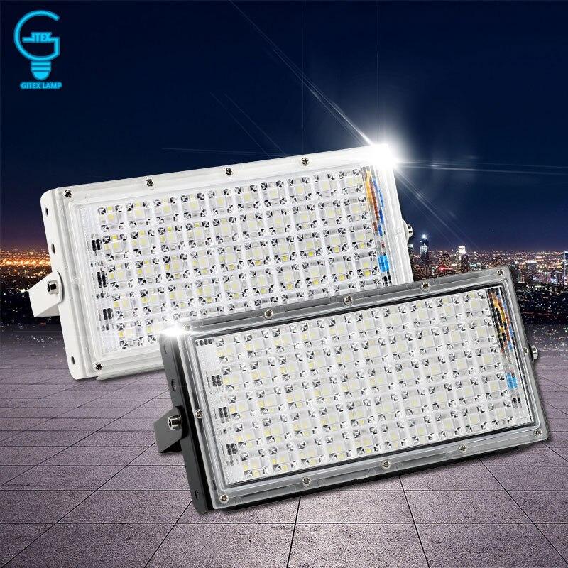 LED Luz de inundación 50 W 220 V 240 V Reflector IP65 impermeable al aire libre Pared de Reflector de iluminación jardín foco