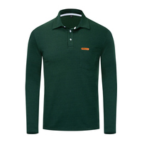 Autumn New Men's Polo Shirt Men's Business Casual Solid Color Polo Shirt Men's Long sleeved Polo Shirt Men's Brand Clothing