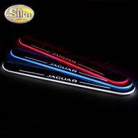 SNCN 4PCS Acrylic Moving LED Welcome Pedal Car Scuff Plate Pedal Door Sill Pathway Light For Jaguar XF 2015 2016 2017 2018
