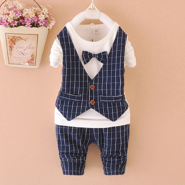 2015 new fall clothing 1 5 year baby boy suit infant wedding suit ...