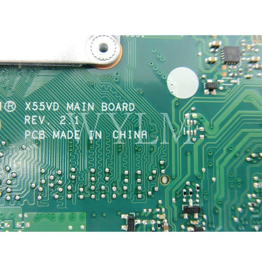 X55C carte mère 2 GB RAM pour ASUS X55V X55VD X55C DDR3 carte mère d'ordinateur portable carte mère REV2.1/2.2 100% testé travail - 4