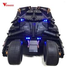 Светодиодный свет набор для Lego 76023 7111 super heroes Бэтмен Бэтмобиль tumbler Конструкторы техника Строительные кирпичи игрушечные лошадки детей