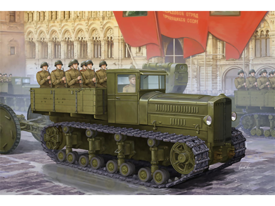 1pcs Action Figures Kids Gift Collection For Trumpeter 1/35 05540 Komintern Artillery Tractor Model Kit 1pcs action figures toy kids toy collection for trumpeter 1 35 scale model 05531 sd kfz 6 5 tonne semi crawler artillery tractor