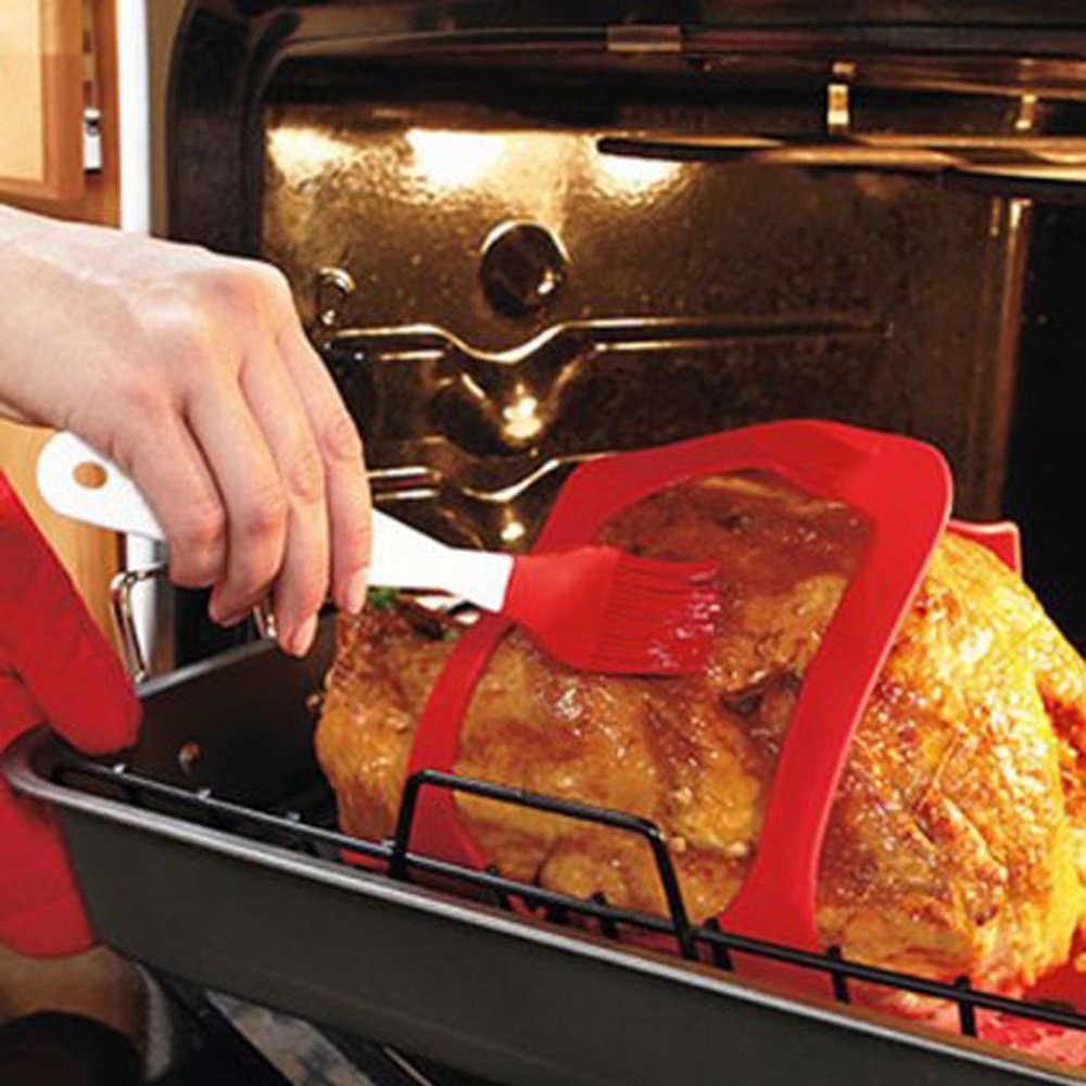 מחממים התנגדות סיליקון טורקיה עופות מרים ללא מקל תנור ברביקיו Mat מנגל בשר אביזרי כלים