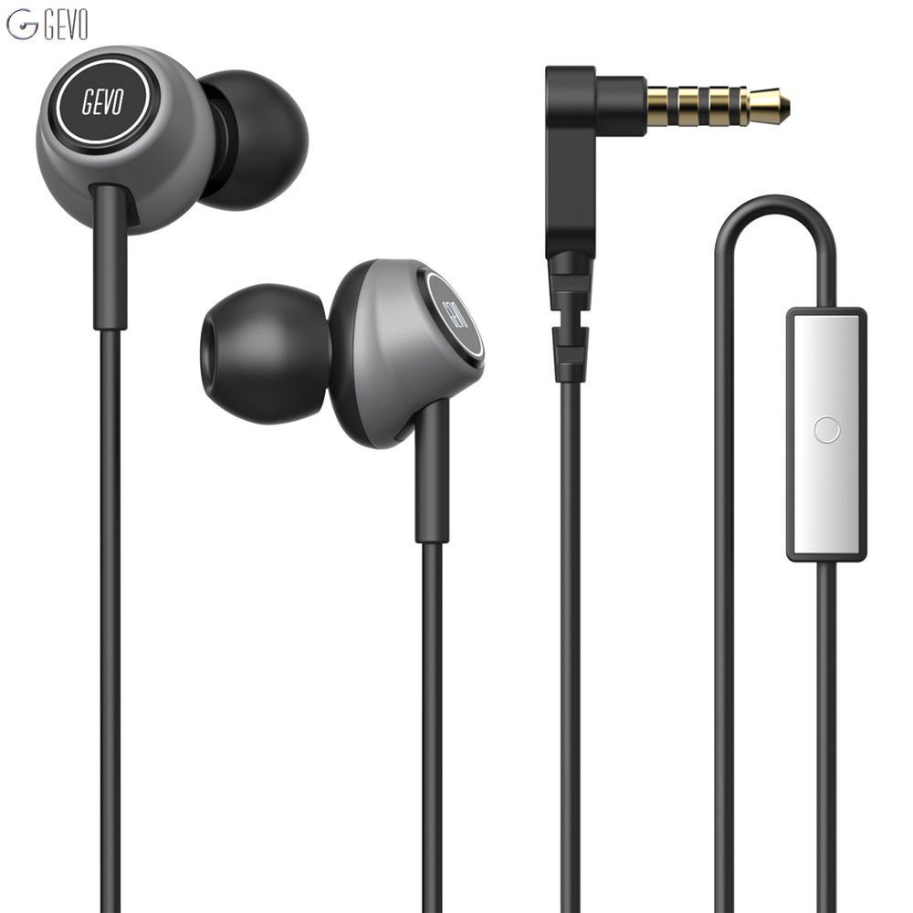 GEVO GV6 Gaming Earphone In-ear Bass Wired Earphones Stereo Noise Cancelling Sport Earbuds Stereo Phones With Mic fone de ouvido hot sale ttlife noise cancelling headphones fone de ouvido bluetooth 4 1 headset portable bass stereo gaming earphone for gamer