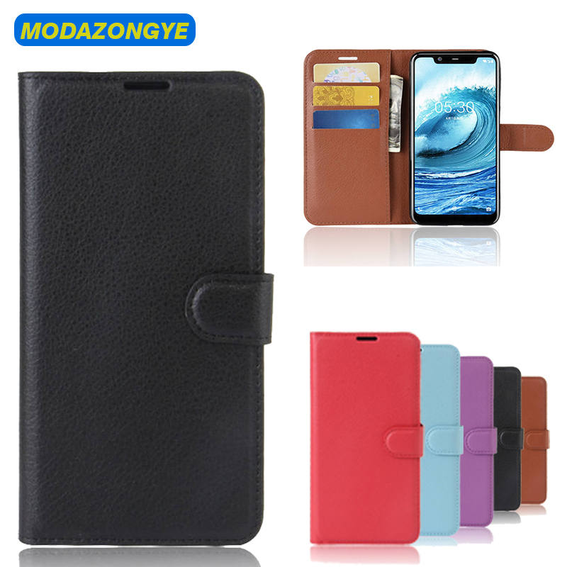 Nokia 5.1 Plus Case 5.86 Wallet PU Leather Flip Cover Phone Case Nokia 5.1 Plus TA-1109 Nokia5.1Plus Nokia 5.1Plus Case 2018