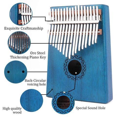 kalimba mbira polegar piano educacao brinquedo instrumento
