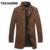 Jaquetas masculinas Casacos de Cashmere 2016 Homens Casacos De Lã Sólida Gola Business Casual Casaco de Lã & Blends Casaco De Lã