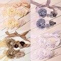 Пион Цветок Sash Соответствующие Детские Повязка Цветок Створки Пояса Створки Материнства Детские Волос Группа