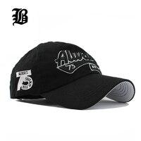 FLB Wholesale Spring Casual Snapback Hats Baseball Caps Hats Hip Hop Embroider Letter Cotton Hat