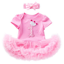 Outfits-Dresses Birthday Baby-Girls Christening 1-Year for 1st First Romper Bow Bow