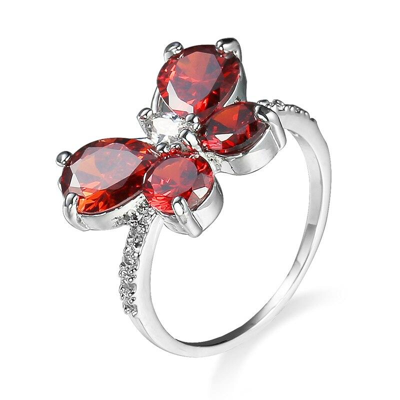 Engagement-Ring Butterfly-Rings Crystal Luxury Jewellery Girlfriend's Women R108 Graduation-Present
