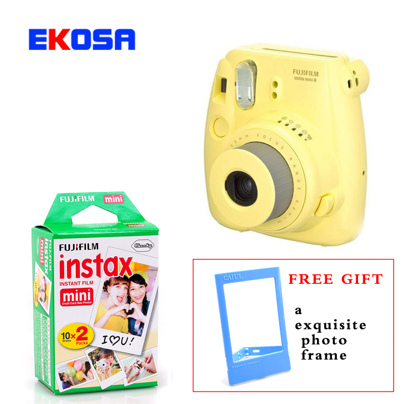 Fuji Mini 8 Camera Fujifilm Fuji Instax Mini 8 Instant Film Photo Camera 5 Colors + 20 Fujifilm mini films 3 inch Photo Paper original fujifilm instax mini 8 camera fuji 3 inch instax camera in film camera