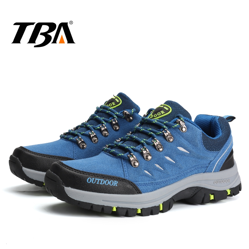 TBA Men's Winter Sneakers Waterproof Hiking Shoes Breathable Leather Rubber Boots Men's Trekking Shoes Outdoor Mountain Sneakers 2017 tba men s shoes hunting mountain shoes lace up suede leather martin boots breathable outdoor hiking shoes t5983