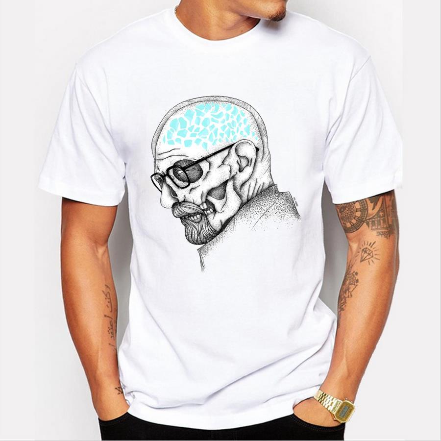 Shirt design latest 2017 - 2017 Latest Men S Fashion Art Design Heisenberg Printing T Shirt Hot Sale Breaking Bad Tee