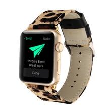 Леопардовый кожаный текстильный ремешок для часов для Apple Watch 38 мм 40 мм 42 мм 44 мм ремешок для Apple Iwatch band Series 1 2 3 4